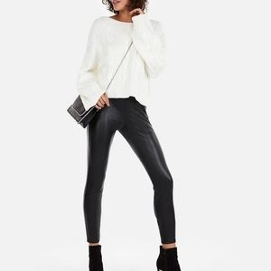 Express Shear Black Leggings